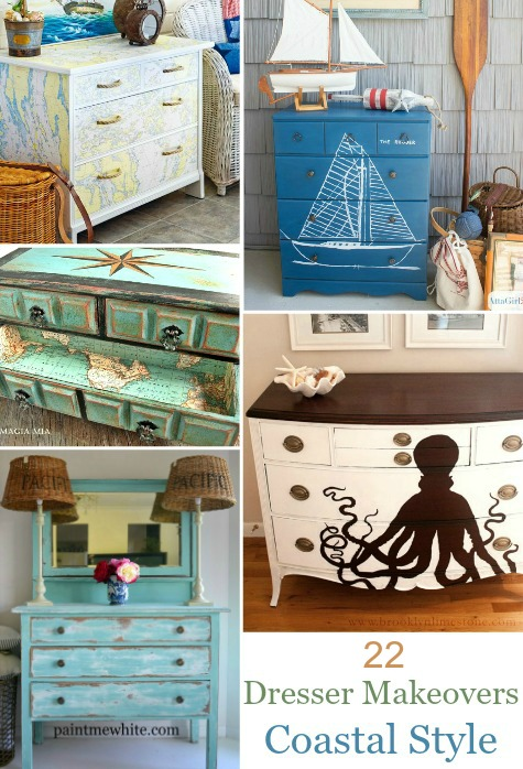 Coastal Nautical Dresser Makeovers