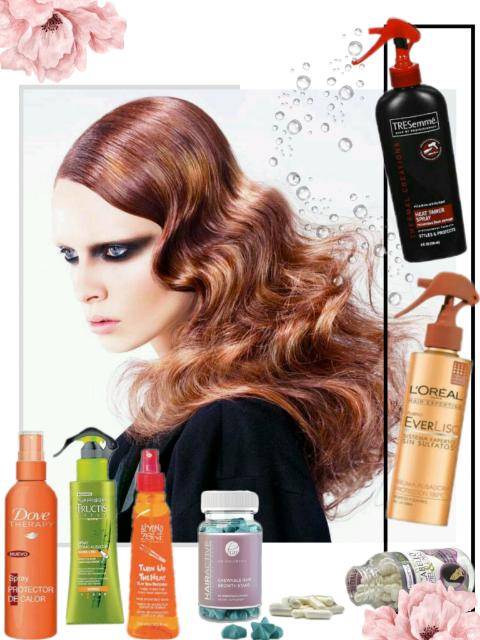 Protectores de calor y vitaminas para el cabello