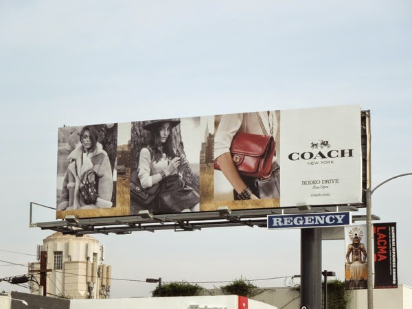 Coach FW 2014 bag billboard