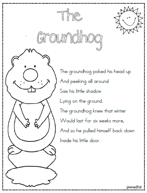 Ground Hog Poems 6