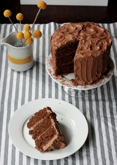 Classic Chocolate Cake with Mocha Buttercream by The SoHo