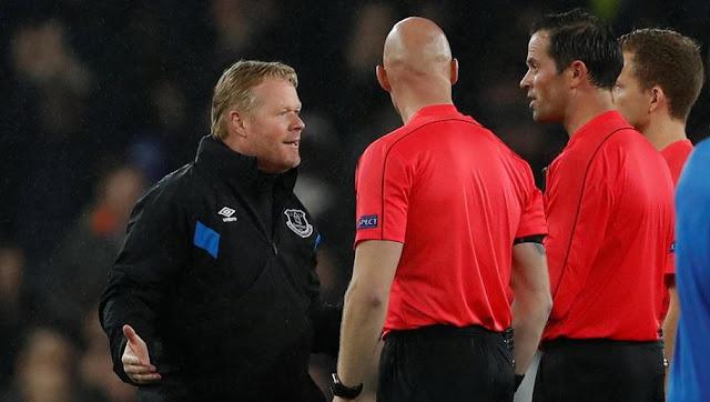 arbitre d'Everton-Lyon