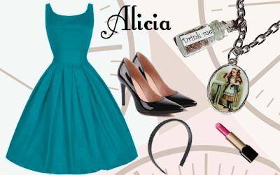 Outfit inspirado en Alicia en el país de las maravillas de Lewis Carroll