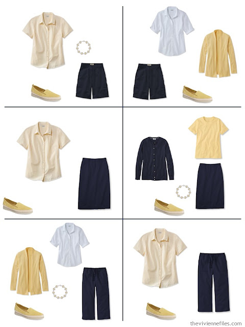 six ways to wear yellow with navy and white for warm weather