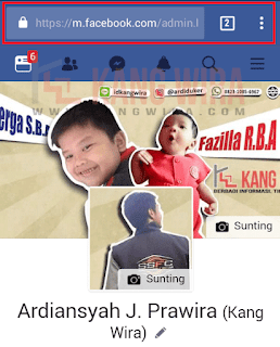 Address Bar Facebook Dari Browser Handphone