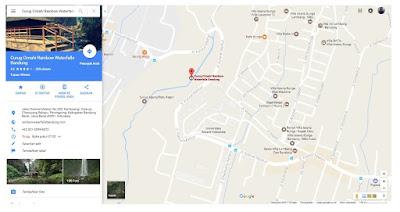 Rute Menuju wisata alam Curug Cimahi (Curug Pelangi)