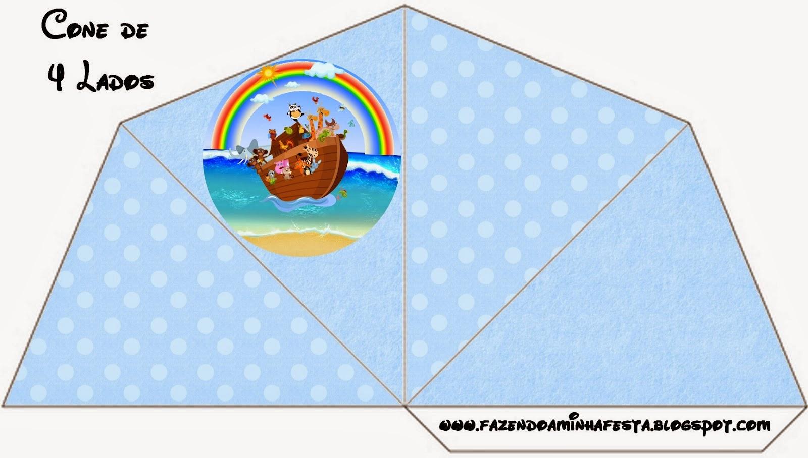 Arca de Noé en Celeste: Imprimibles Gratis para Fiestas.