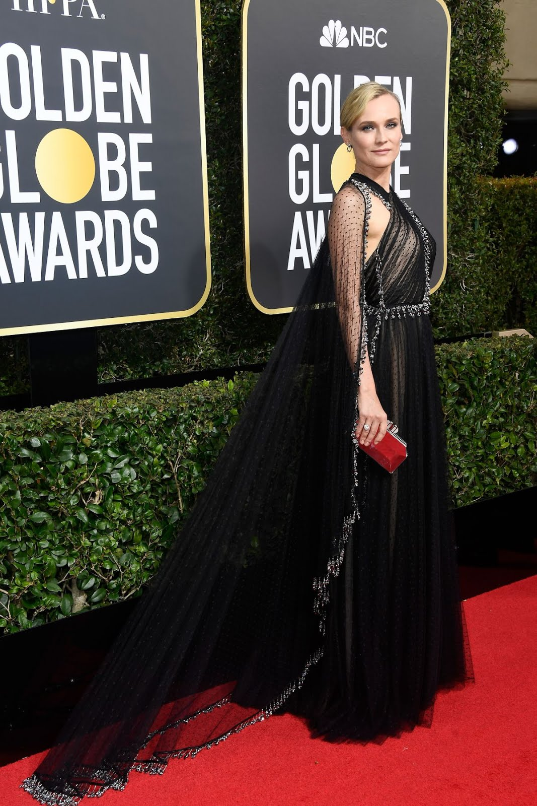 HD Photos of Diane Kruger At 75Th Annual Golden Globe Awards In Beverly Hills
