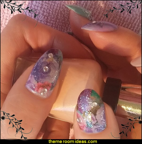 nail decorating ideas nail water decals nail glitter maries manor