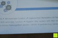 Verpackung Funktion: Beurer LR 300 Luftreiniger mit HEPA Filter für 99,5% Filterleistung, ideal bei Heuschnupfen und zur Allergievorbeugung