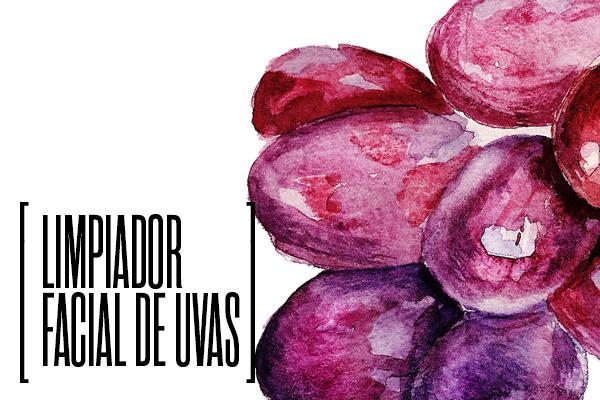 limpiador facial de uva