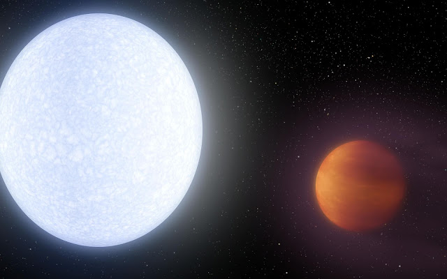 Rare-Earth metals in the atmosphere of a glowing-hot exoplanet