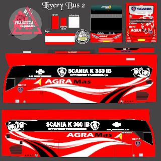 Download Livery Es Bus Id Po. Agra mas scania