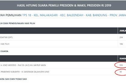 Input Data KPU : Jokowi Ditambah 500 Suara, Prabowo Disunat 100 Suara