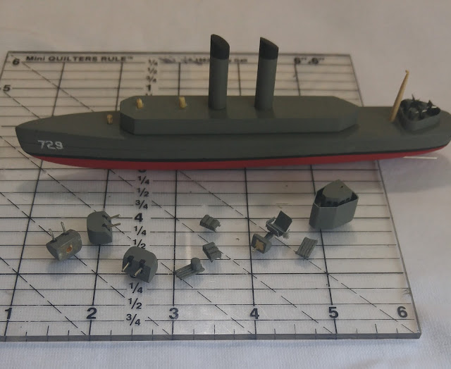 uss lyman k swenson model in pieces