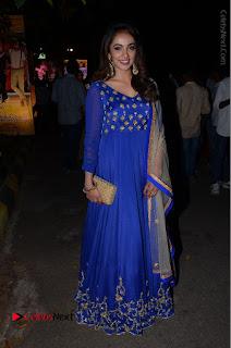 Telugu Actress Tejaswi Madivada Pos in Blue Long Dress at Nanna Nenu Na Boyfriends Audio Launch  0110.JPG