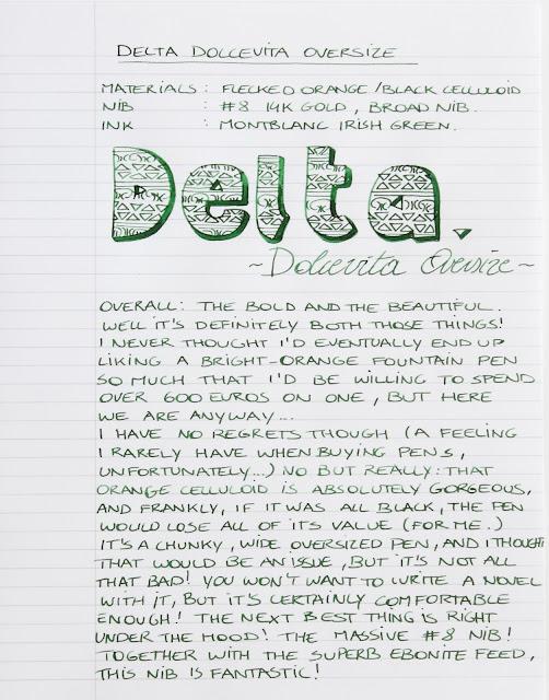 Delta Dolcevita Oversize Fountain Pen