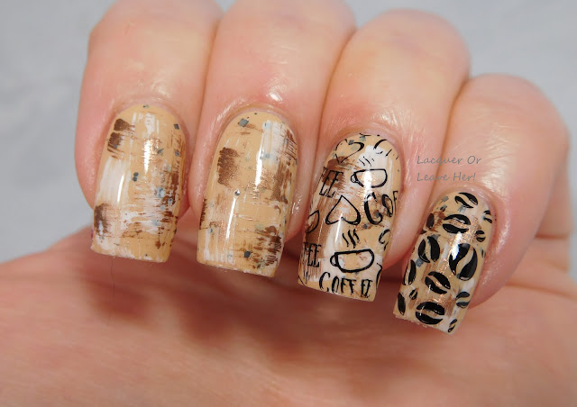 Spellbound Nails Marauder's Map + UberChic Beauty's Coffee Addict mini plate