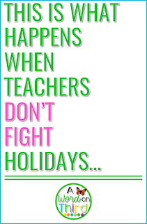 A Word On Third will show you how to deal with holiday stress in the classroom with ease.