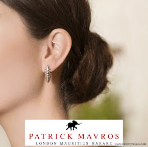 Countess Sophie wears Patrick Mavros pangolin earrings in sterling silver