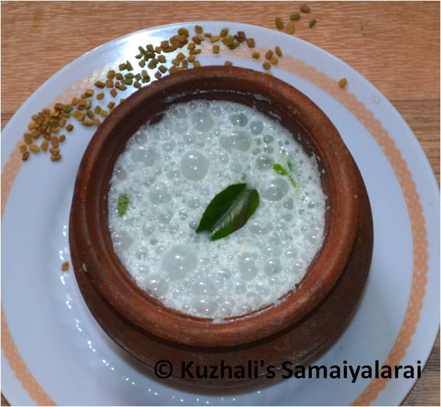 FENUGREEK BUTTERMILK(VENTHAYA MOR) - BEAT THE HEAT-SUMMER COOLANT RECIPES