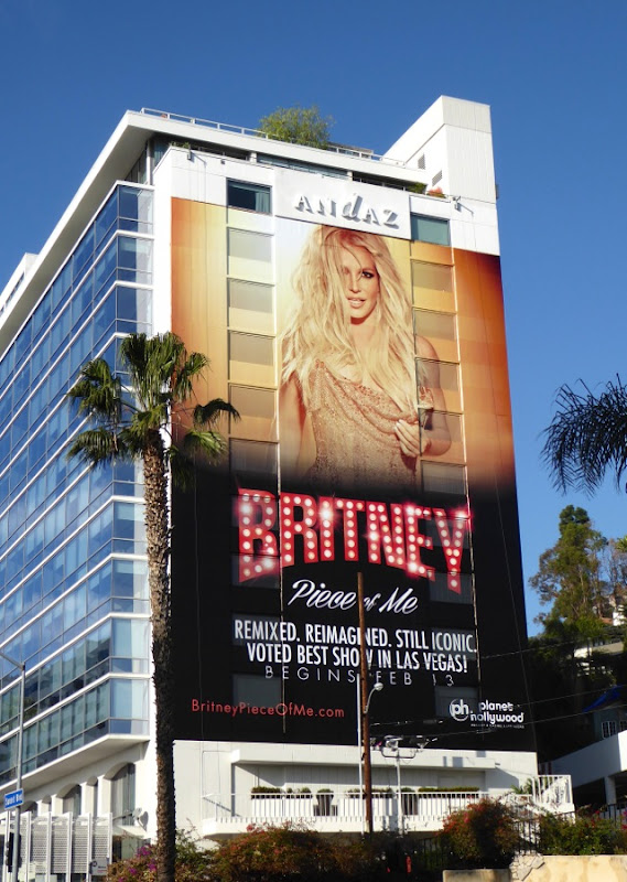 Giant Britney Spears Piece of Me billboard