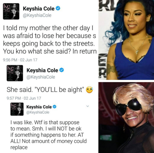 Keyshia Cole shares sad update about her mother