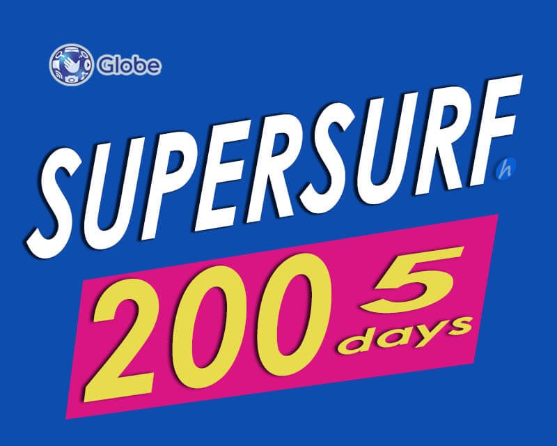 Globe Supersurf200 5 Days Internet Promo For Only 200 Pesos