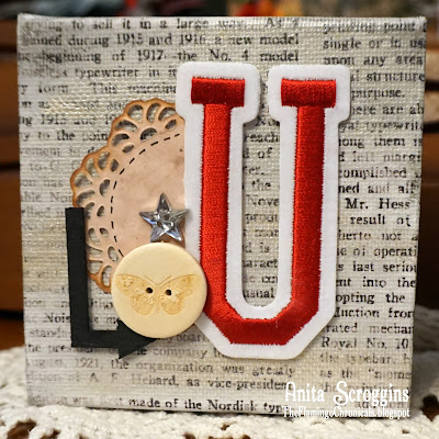 mantle decor canvas block patriotic