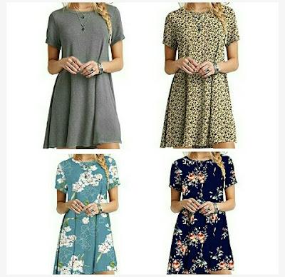 Molerani Dress - Ladies O-Neck Short Sleeve Tunic Tops