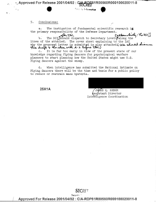 CIA Memo on 'Flying Saucers' (pg 2)
