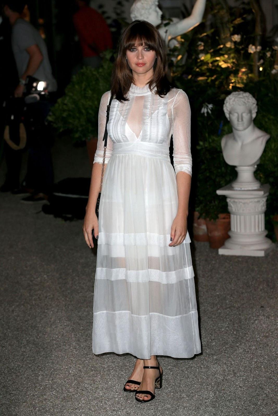 Felicity Jones at Burberry Fashion Show