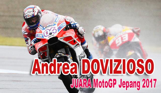 Hasil MotoGP Jepang 2017, Dovizioso JUARA