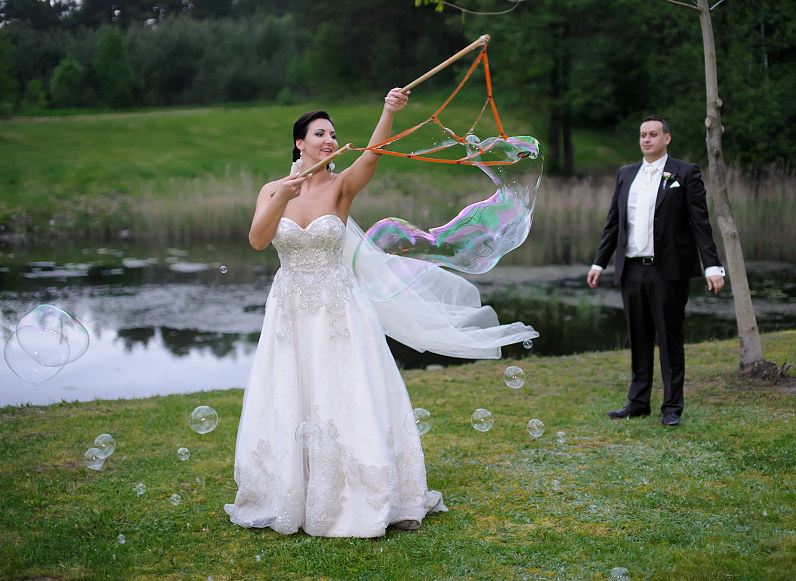 muilo burbulai vestuvėse