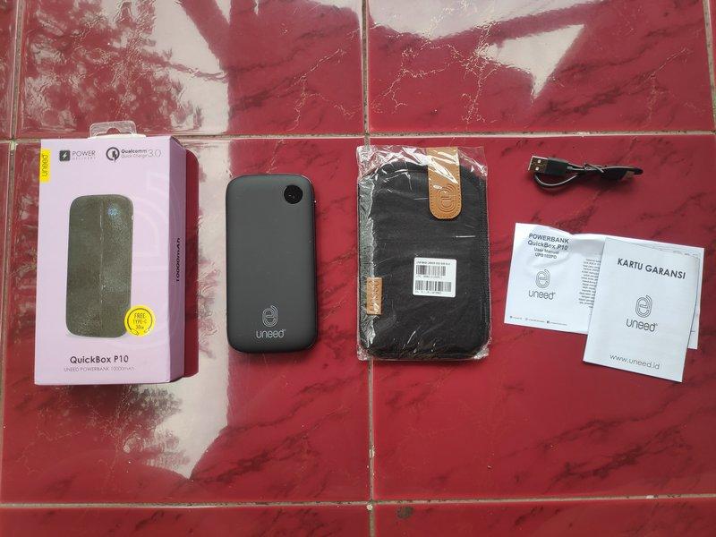 Paket Pembelian Uneed QuickBox P10 10000mAh