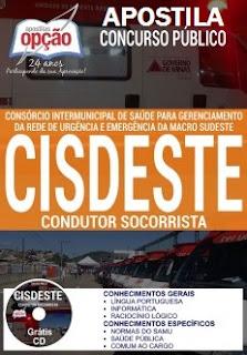 Apostila Condutor Socorrista CISDESTE concurso 2017