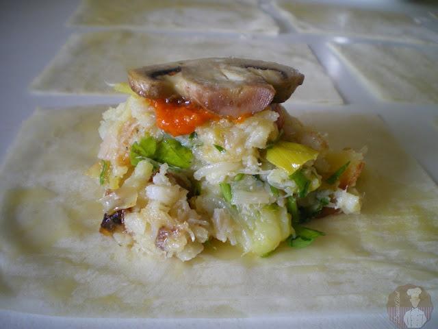Bombones crujientes de bacalao con patatas: Relleno