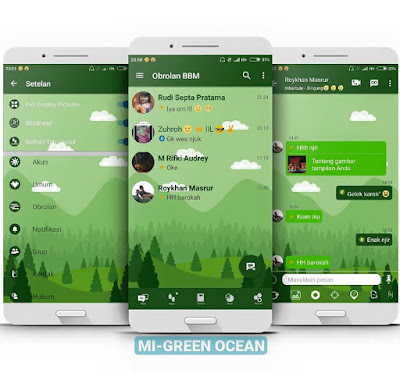 BBM Mod Mi-Green Ocean Versi Terbaru 3.2.5.12