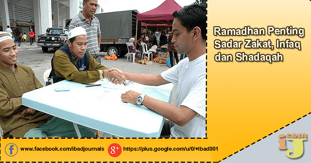 Ramadhan ialah moment yang sangat tepat untuk meningkatkan kualitas hidup insan secara  Ramadhan Sadar Zakat, Infaq dan Shadaqah