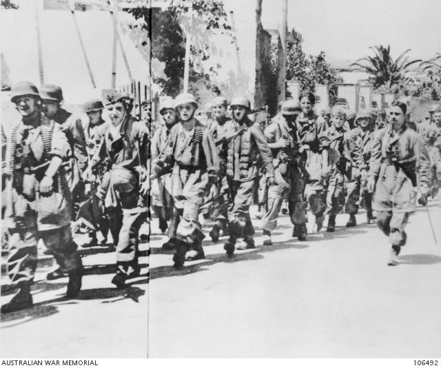 Fallschirmjäger march into Canea 27 May 1941 worldwartwo.filmnispector.com