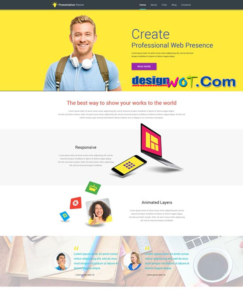 Web Presentation WordPress Theme