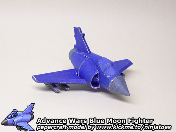 Advance Wars Blue Moon Fighter Papercraft