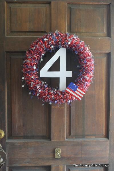 July 4th wreath decor