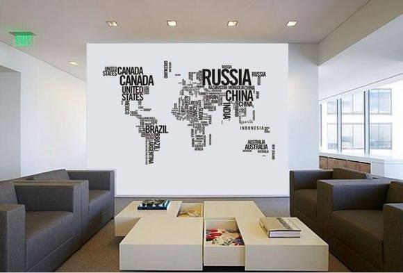 ambientes decorados com mapas %2B%25283%2529 - A elegância dos Mapas na decoração de Ambientes