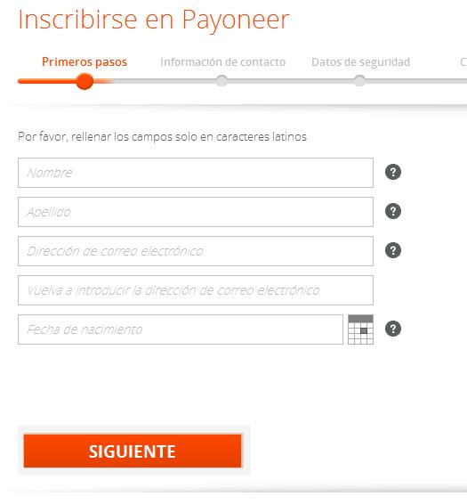 tarjeta PAYONEER Latinoamerica