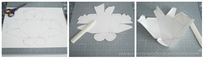 DIY: Busto conejo de papel