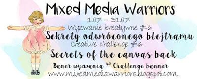 Wyzwanie #6 - Sekrety odwróconego blejtramu | Creative MMW challenge #6: Secret of the canvas back
