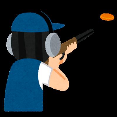 クレー射撃のイラスト