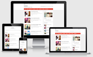 Invision Personal Free Responsive Blogger Template