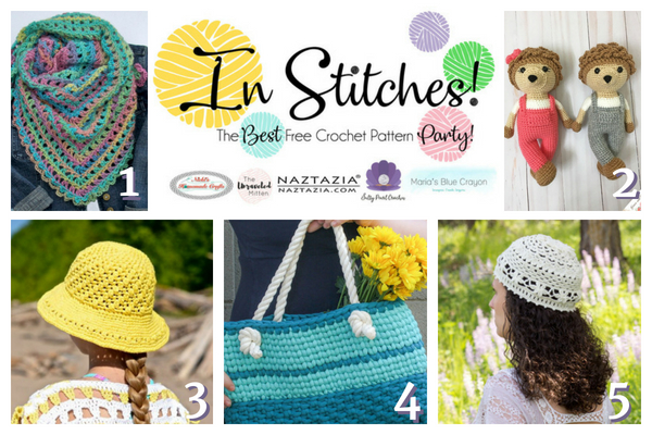 In Stitches Best Free Crochet Link Up Party Week 13 Marias